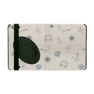 Nautical sea iPad folio cases