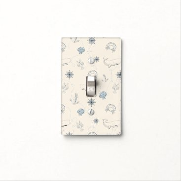 Beach Themed Nautical Sea Light Switch Cover