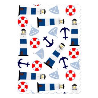 Nautical Sea Objects Card
