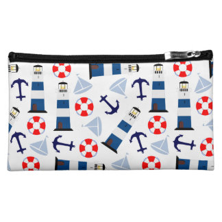 Nautical Sea Objects Cosmetic Bags