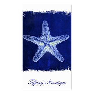 nautical sea shells beach blue starfish business card