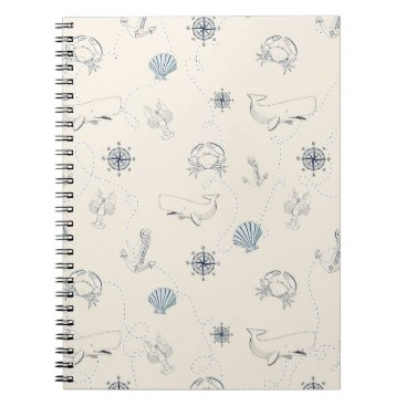 Beach Themed Nautical Sea Spiral Notebook