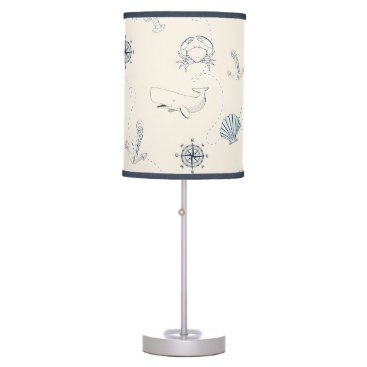 Beach Themed Nautical Sea Table Lamp