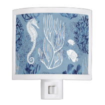 Nautical Seahorse Collection Night Light