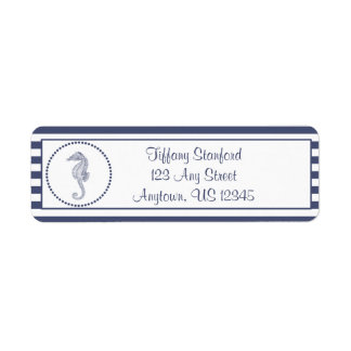 Nautical Seahorse | Personalized Label