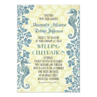 nautical seahorses wedding invitations