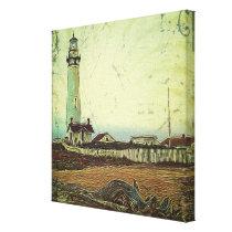 nautical seascape oil painting vintage lighthouse canvas print