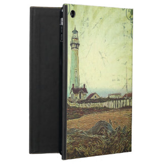 nautical seascape oil painting vintage lighthouse iPad air cover