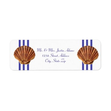 Beach Themed Nautical Seashell - Address Labels