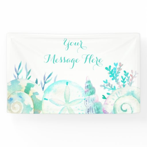 Nautical Seashell Bridal Shower Banner