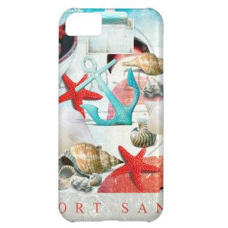Nautical Seashells Anchor Starfish Beach Theme Cover For iPhone 5C
