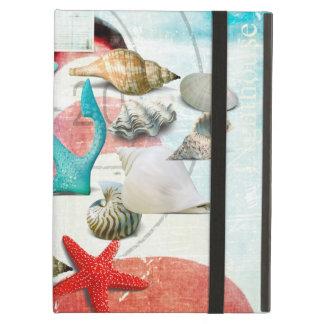 Nautical Seashells Anchor Starfish Beach Theme iPad Air Cover