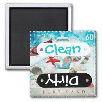 Nautical Seashells Anchor Starfish Beach Theme Refrigerator Magnet