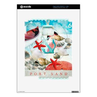 Nautical Seashells Anchor Starfish Beach Theme Skin For The iPad 2