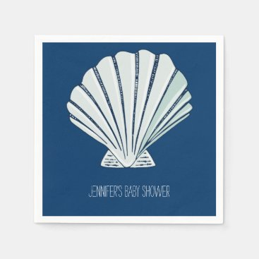 Toddler & Baby themed Nautical Seaside Shell Napkin