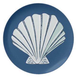 Nautical Seaside Shell Plate