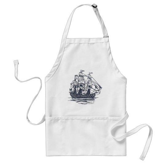 Nautical Ship Adult Apron