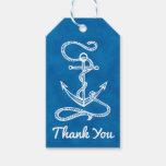 Nautical Ship Anchor Navy Blue Watercolor Wedding Gift Tags