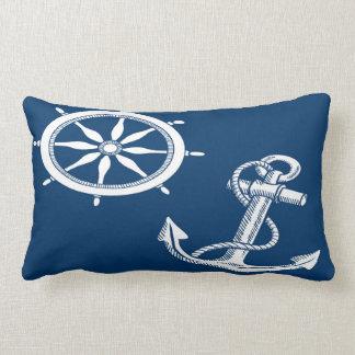 Nautical Ship Anchor Ships Wheel Lumbar Pillow