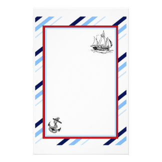 Nautical Ship Anchor Stationery