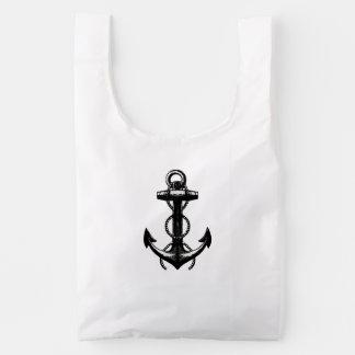 Nautical Ship Anchor with Ropes Reusable Bag