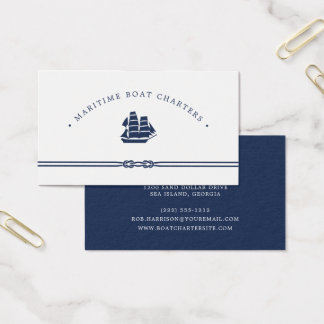 Nautical Ship   Boat Charter Business Card