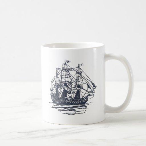 Nautical Ship Classic White Coffee Mug
