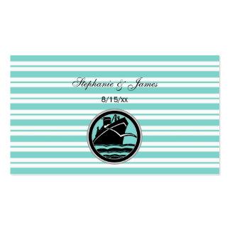 Nautical Ship Lt Blue White Stripe Escort Cards Business Card Templates