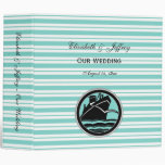 Nautical Ship Lt Blue White Stripe Wedding Binder