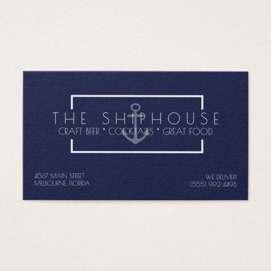 Nautical ship navy blue restaurant bar business business card nautical ship navy blue restaurant bar business business card colourmoves