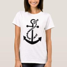 Nautical ship navy marine anchor T-Shirt