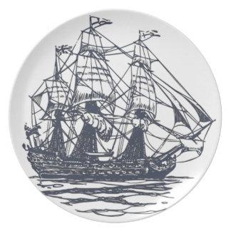 Nautical Ship Plate