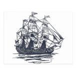 Nautical Ship Post Card