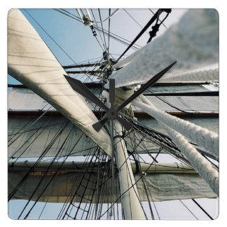 Nautical Ship Rigging Square Clock