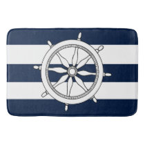 Nautical Ship Wheel Bath Mats