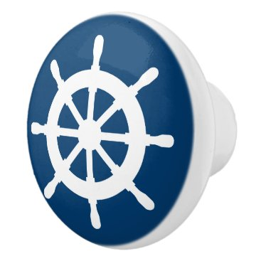 Beach Themed Nautical ship wheel door and drawer pull knobs