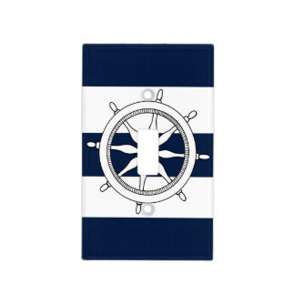 Nautical Ship Wheel Light Switch Cover