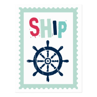 Nautical Ship Wheel Postcard