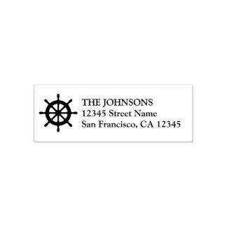 Nautical ship wheel self inking address stamps