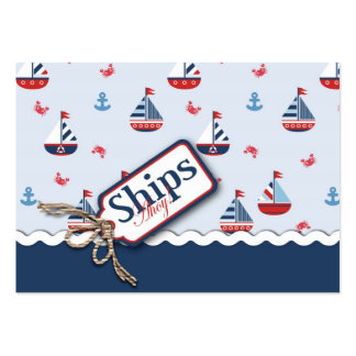 Nautical Ships Ahoy! Reminder Notecard 2 Business Card Template