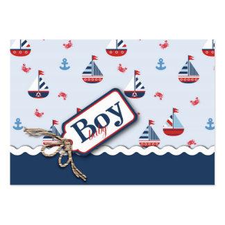 Nautical Ships Ahoy! Reminder Notecard Business Card Template
