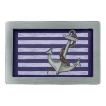Nautical Ship's Anchor Rectangular Belt Buckle