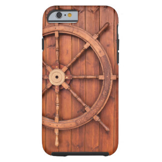 Nautical Ships Helm Wheel on Wooden Wall Tough iPhone 6 Case