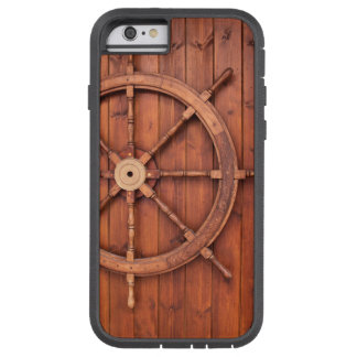 Nautical Ships Helm Wheel on Wooden Wall Tough Xtreme iPhone 6 Case