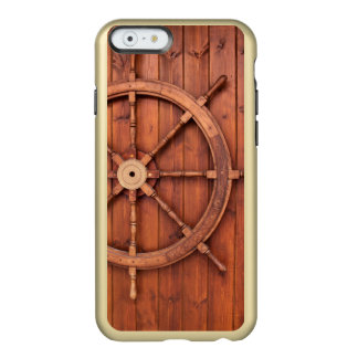 Nautical Ships Helm Wheel on Wooden Wall Incipio Feather® Shine iPhone 6 Case