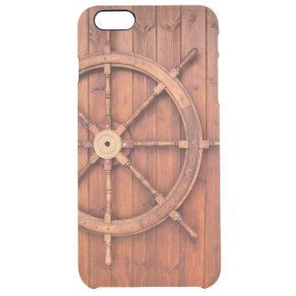 Nautical Ships Helm Wheel on Wooden Wall Uncommon Clearly™ Deflector iPhone 6 Plus Case