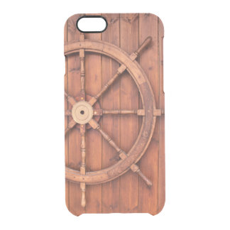 Nautical Ships Helm Wheel on Wooden Wall Uncommon Clearly™ Deflector iPhone 6 Case
