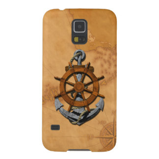 Nautical Ships Wheel And Anchor Galaxy S5 Covers