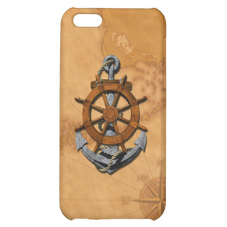 Nautical Ships Wheel And Anchor iPhone 5C Cover