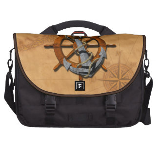 Nautical Ships Wheel And Anchor Bags For Laptop